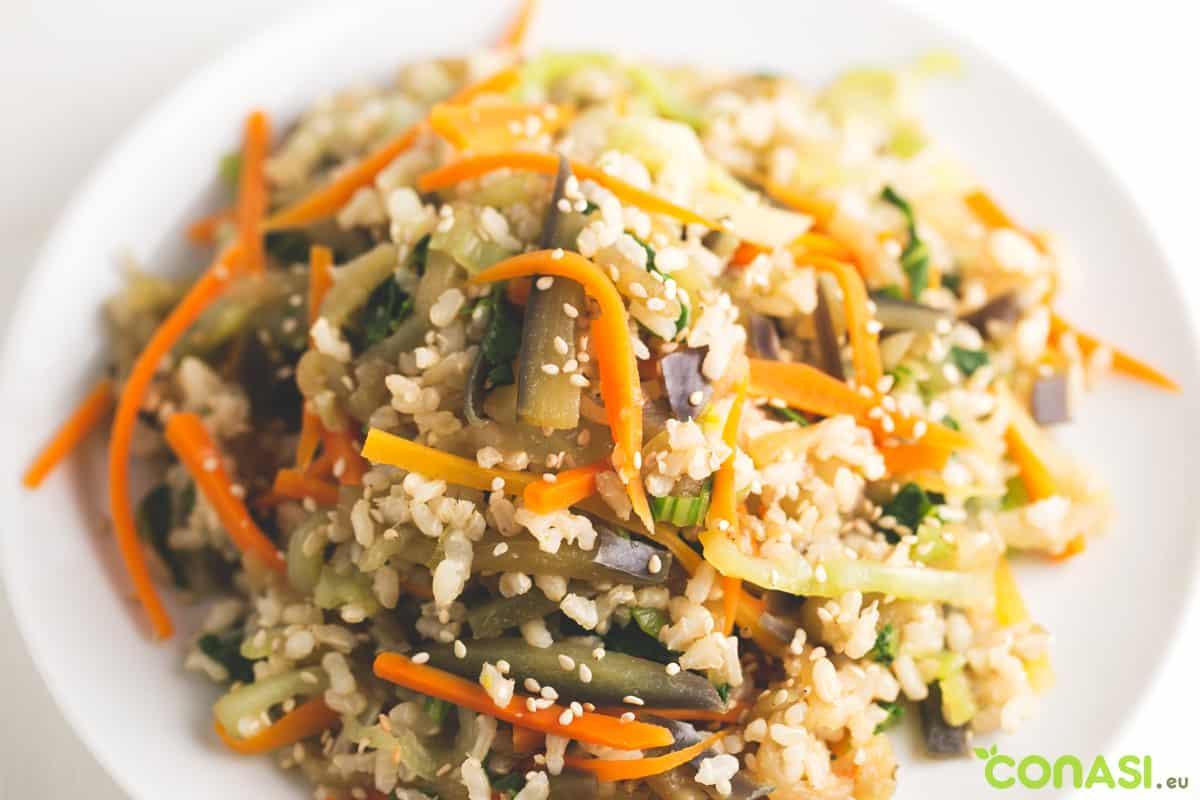 Receta original wok de verduras