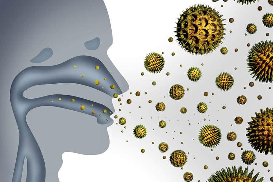 Inhalación de polen que puede provocar alergia estacional