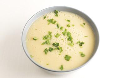 Crema de patata con levadura nutricional