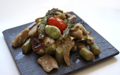 pasta con verduras primaverales