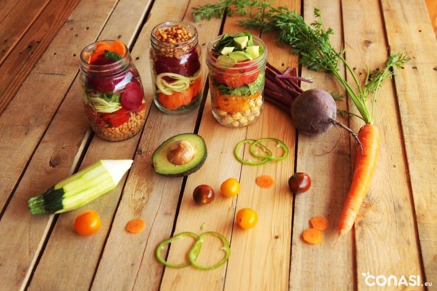 ensaladas-takeaway o ensaladas para comer fuera