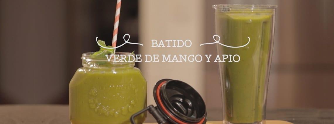 Video receta Vitamix S30: batido verde de mango y apio