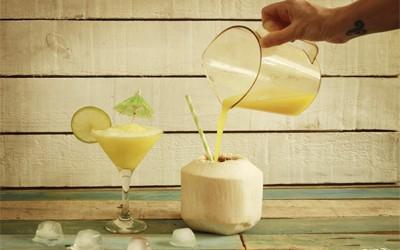Daiquiri sin alcohol de piña y coco