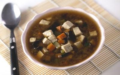 sopa de miso y tofu - Conasi