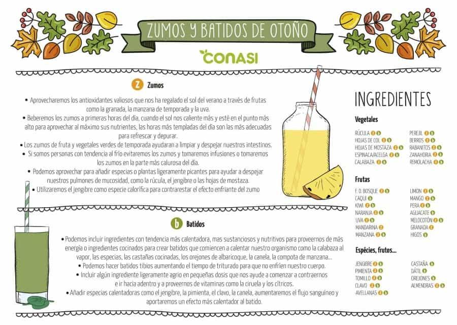 Consejos para hacer batidos y zumos de otoño