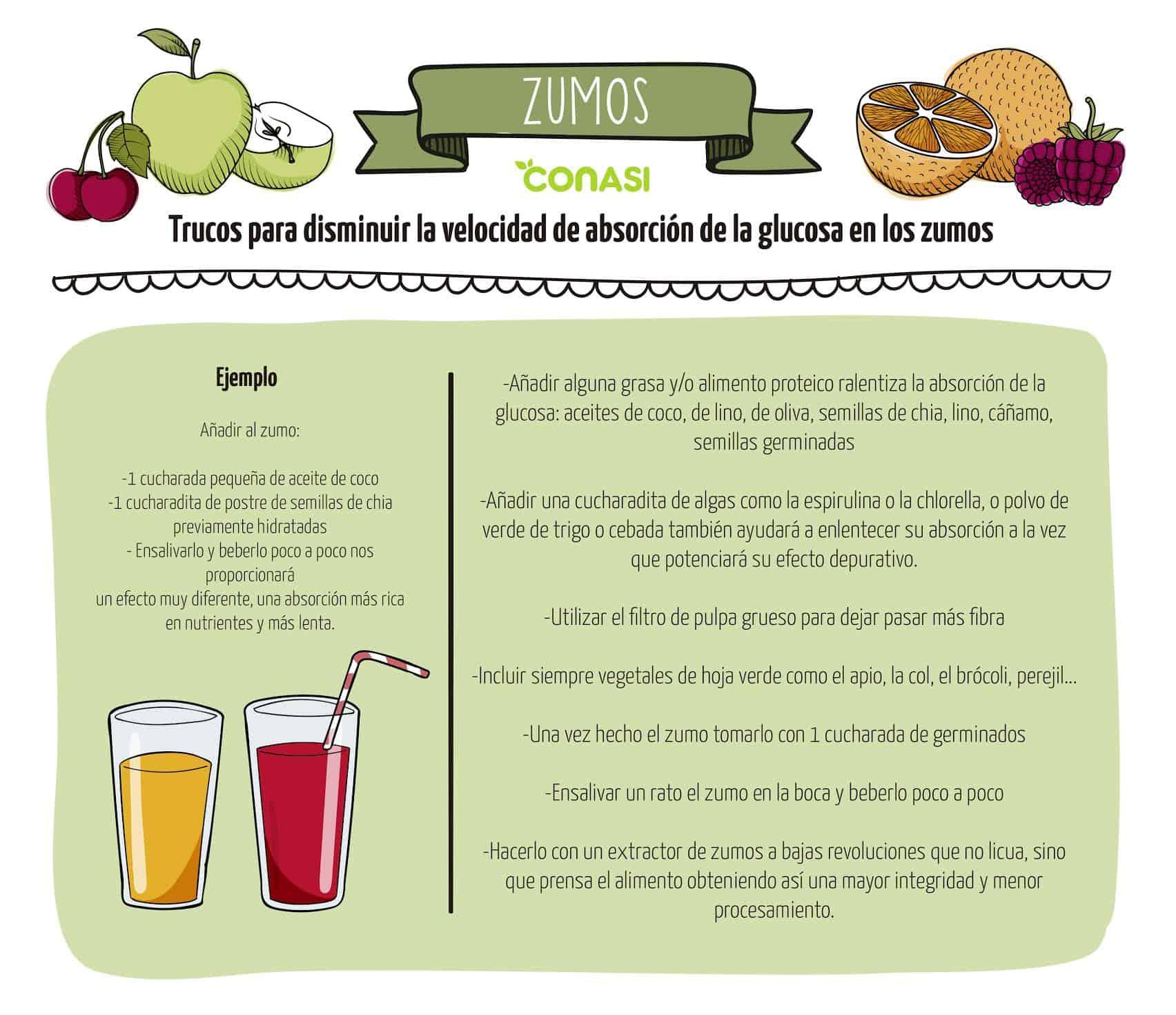 trucos glucemia zumos
