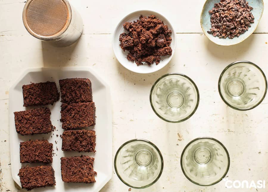 Bizcocho de castañas, cacao y especias