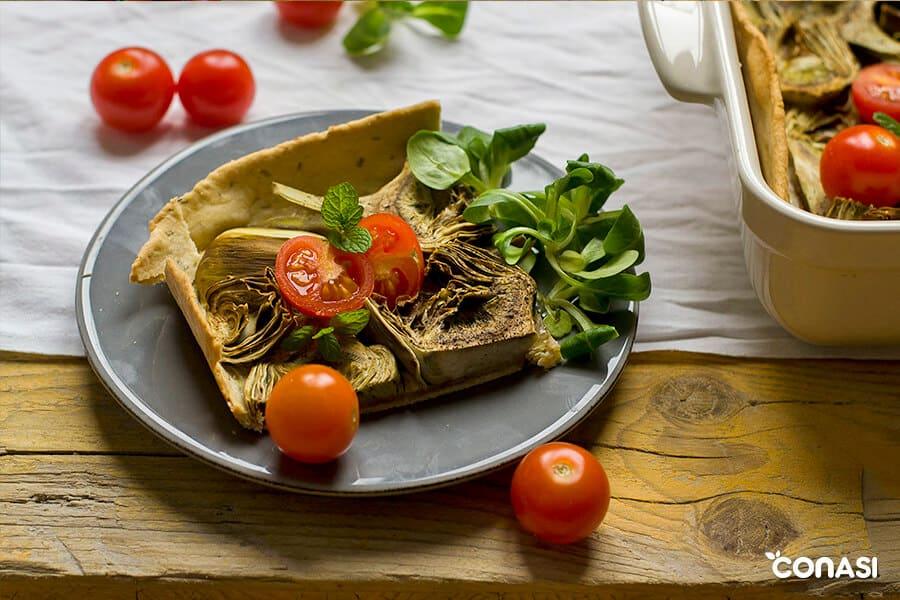 Receta pastel de alcachofa y albahaca