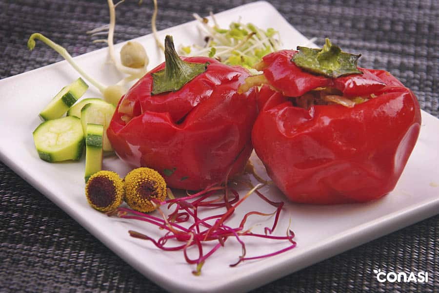 plato vegetariano cargado de proteinas