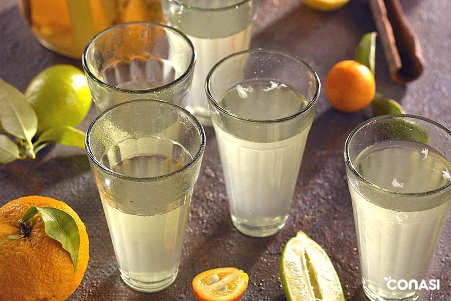 Tepache en vasos - Macrobiótica en verano