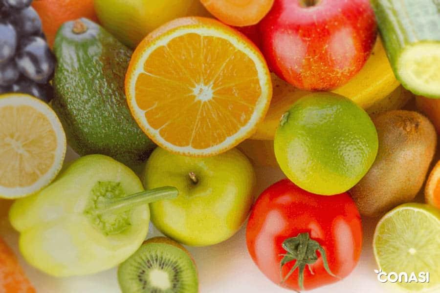 calendario de primavera frutas y verduras