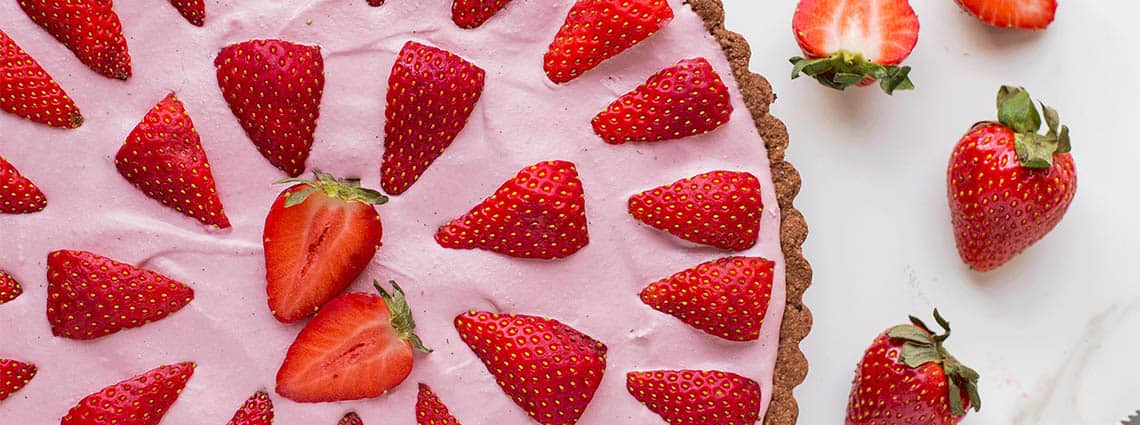 Pastel banoffee de fresas