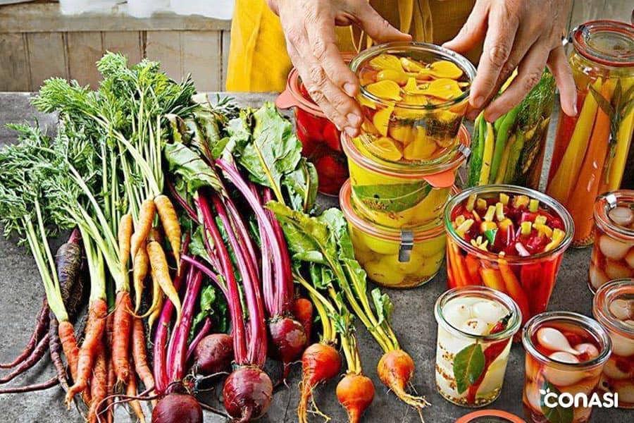 vegetales fermentados en casa