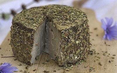 Queso tierno fermentado de soja germinada y nueces