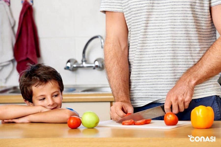 comida sana para niños