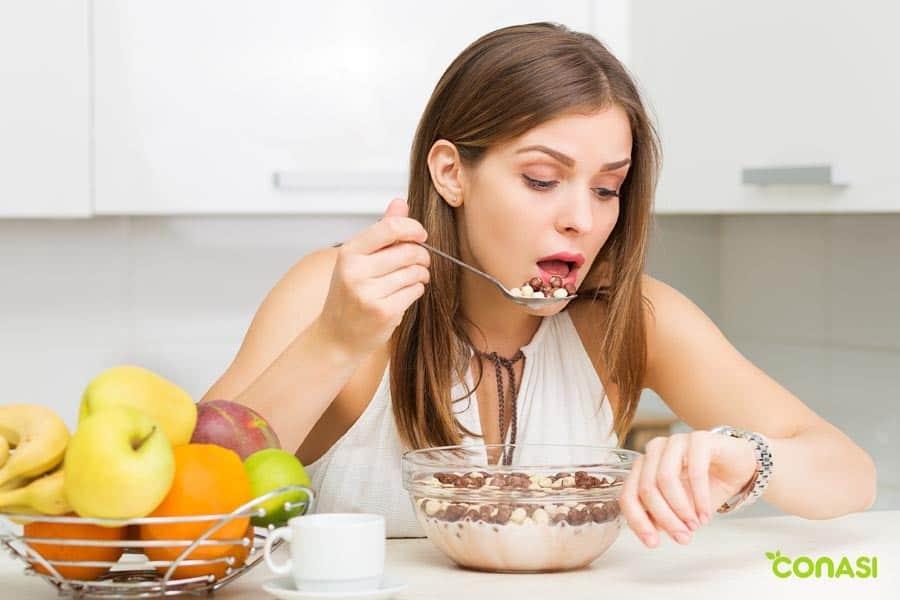 ansiendad en la comida