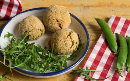 Croquetas de verduras y quinoa al horno
