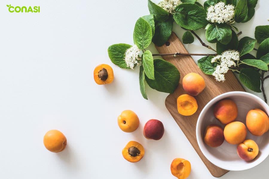 Betacarotenos en frutas naranjas