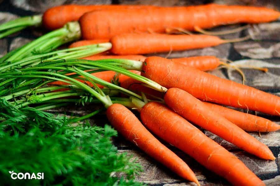 ¿Comer zanahorias para tomar el sol?