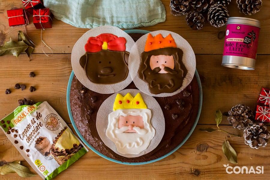 Tarta Reyes Magos Vegetarianos
