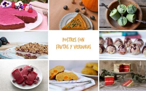 Postres con frutas y verduras