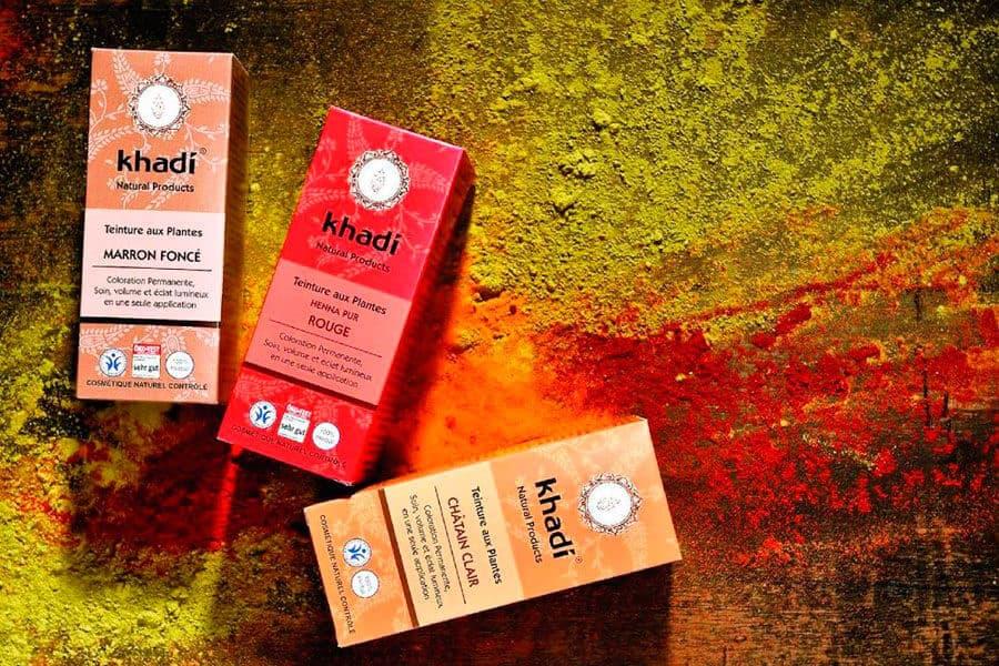 Tres tintes naturales Khadi