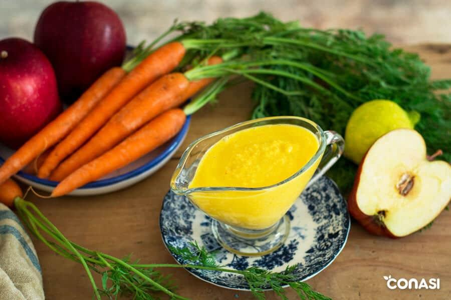 Salsa de zanahoria y manzana