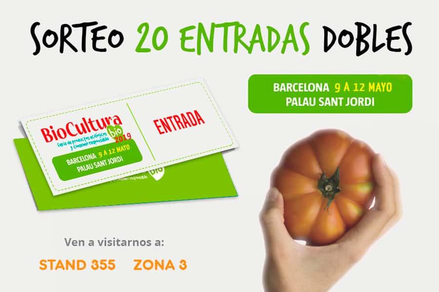 Sorteo de 20 entradas dobles para asistir a Biocultura Barcelona 2019