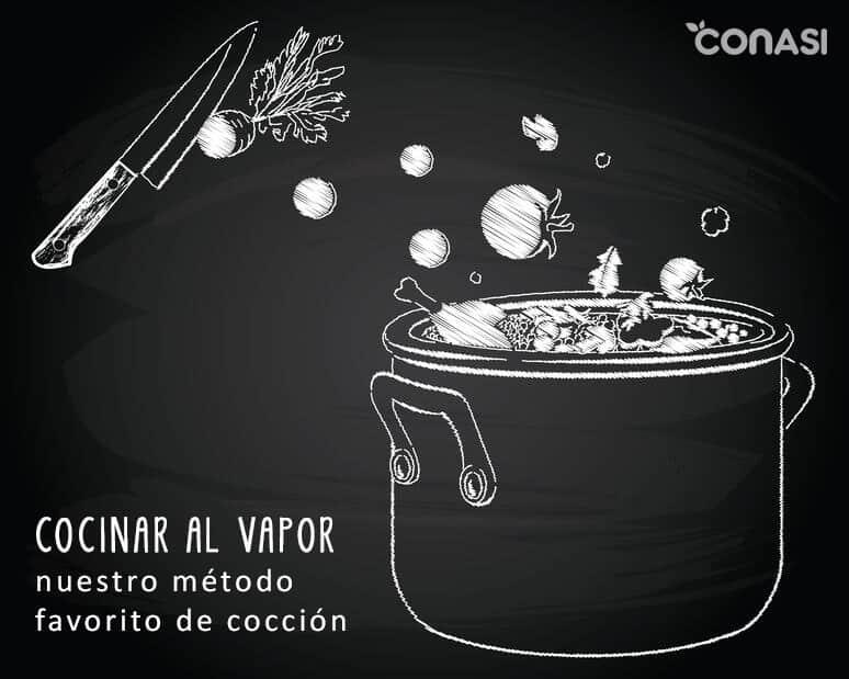 Cocción al vapor, el mejor método de cocinado.