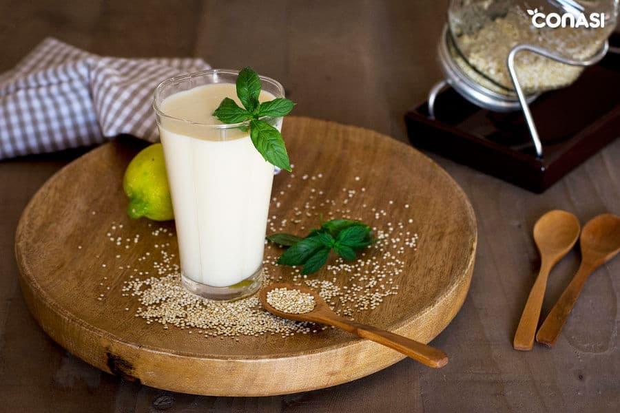 Leche de quinoa germinada