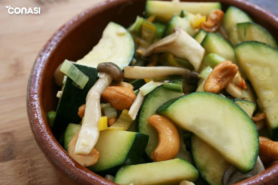 Verduras y anacardos salteados en el wok - Tipos de cocción