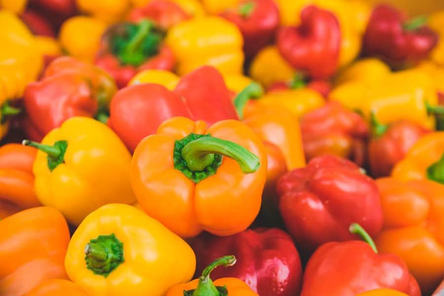 PImientos de colores - cómo cocinar las hortalizas