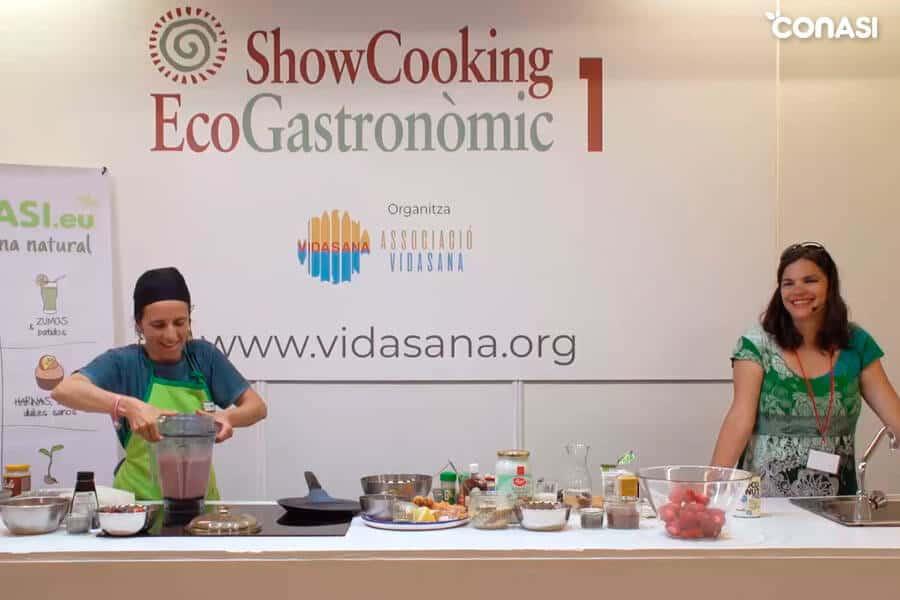 Aïda y Odile en el showcooking desayunos saludables para niños