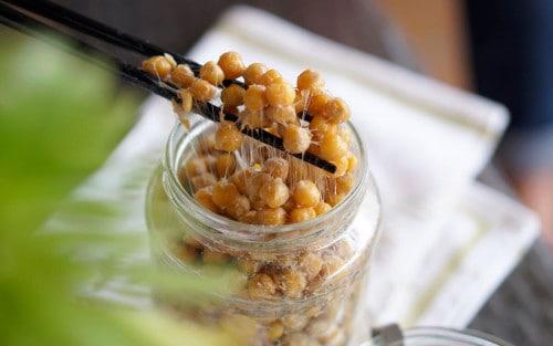 Cómo hacer natto casero de garbanzos