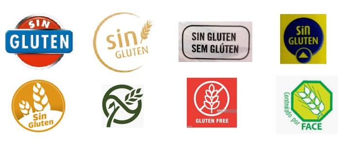 Distintos sellos sin gluten
