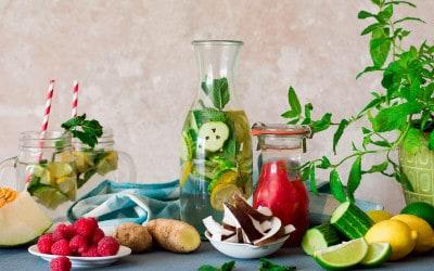 Cómo preparar aguas saborizadas