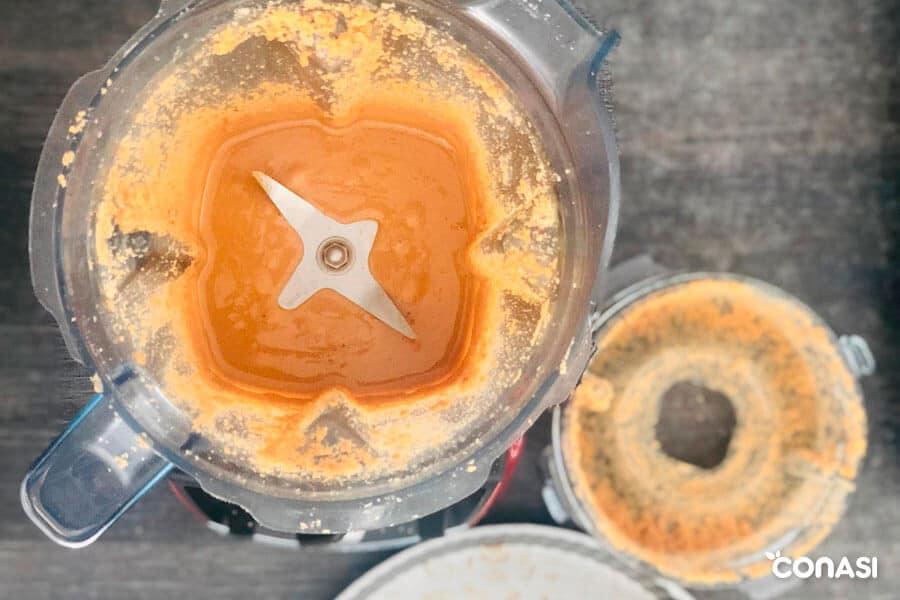 Crema de anacardos hecha con Vitamix