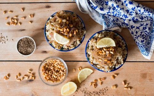 Mujaddara: receta árabe de lentejas con arroz