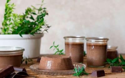 Flan de chocolate con stevia