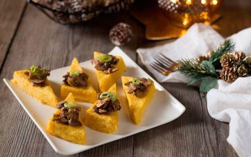 Polenta con setas – Menú navideño italiano