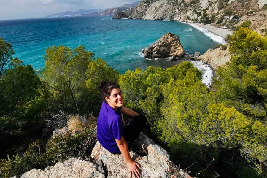 Anne Lizarralde en la playa - Conasi