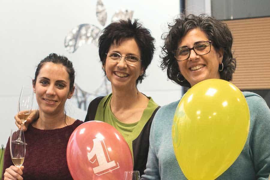 Heidi, Marta y Mónica en la celebración del aniversario de Conasi