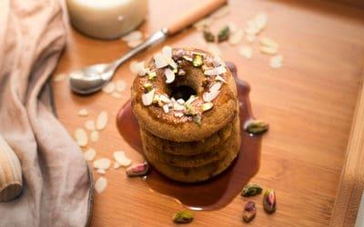 Donuts caseros de trigo sarraceno y pistacho
