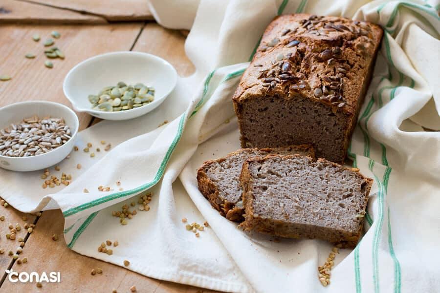 Pan sin levadura y sin amasar, de trigo sarraceno