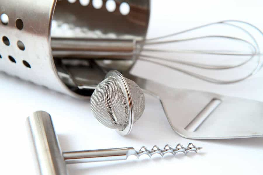 Utensilios de cocina de acero inoxidable