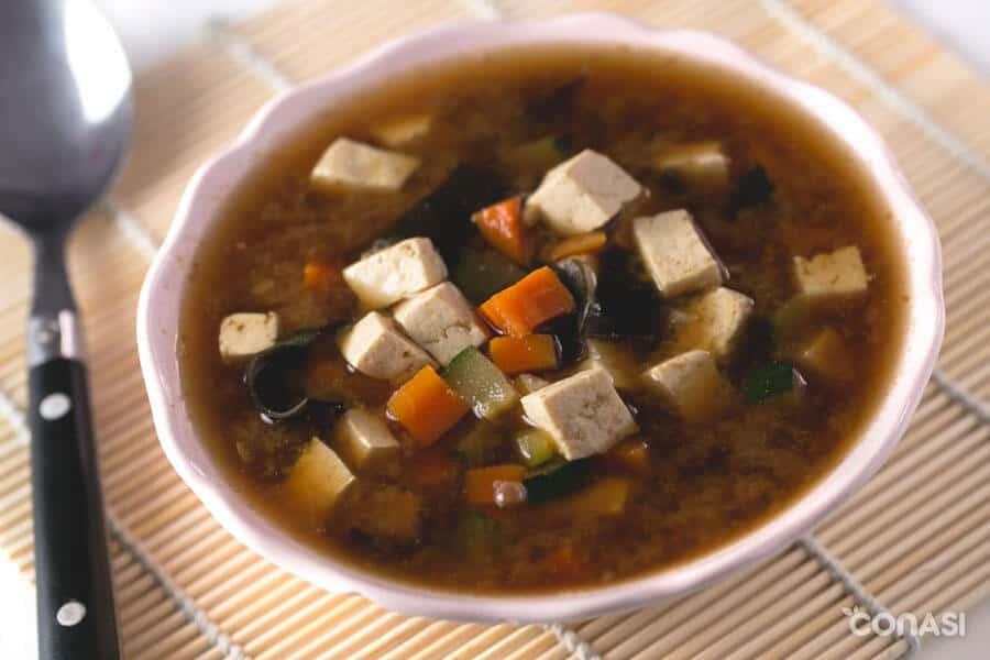 Sopa de miso y tofu - Dieta FODMAP