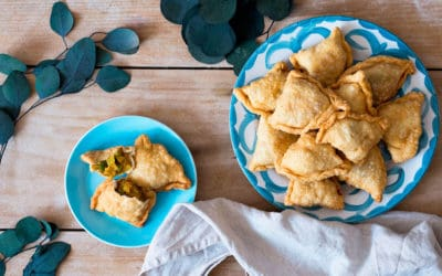 Samosas vegetales: receta paso a paso