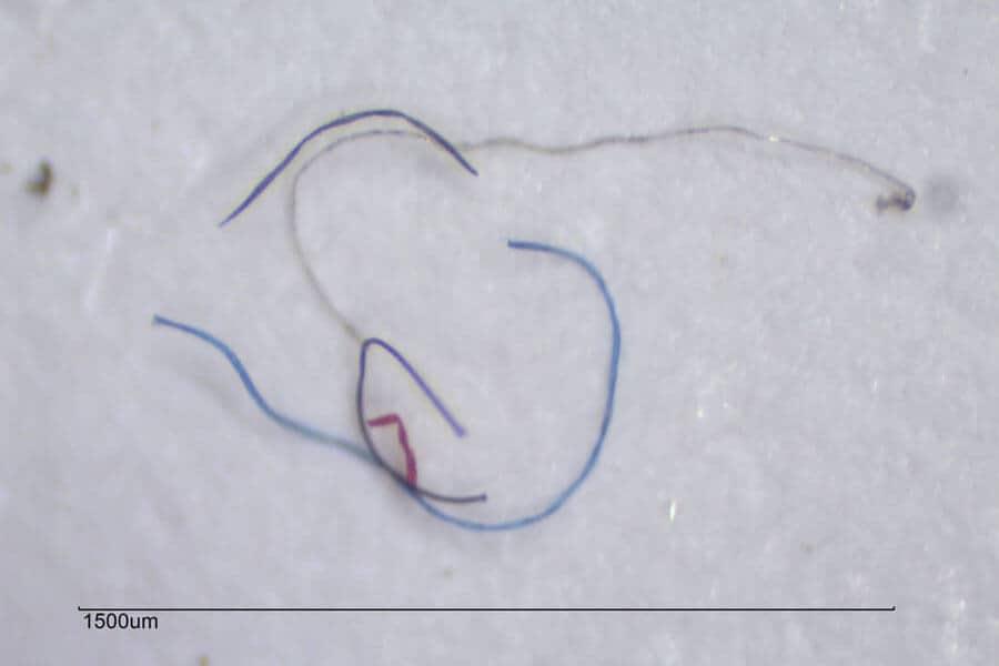 Microfibra textil de varios colores