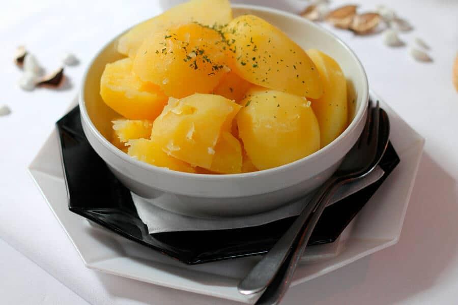 Patatas al vapor - cocinar la patata