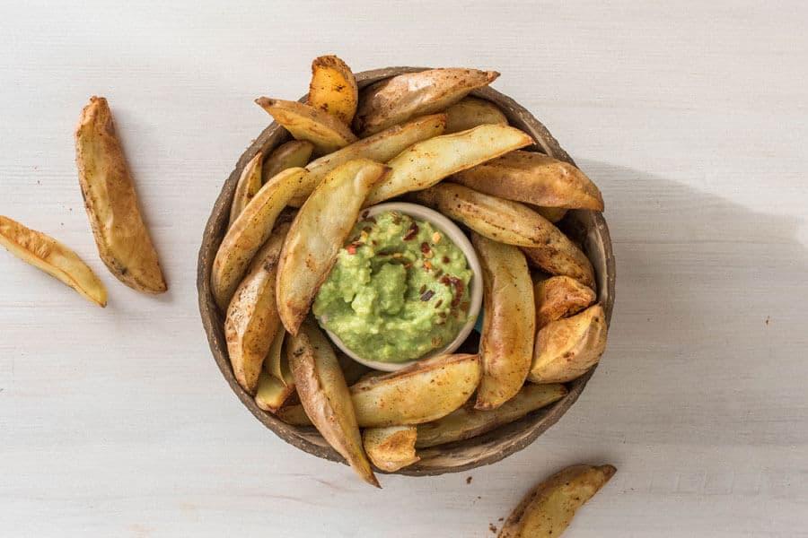 cocinar la patata - patatas al horno con guacamole